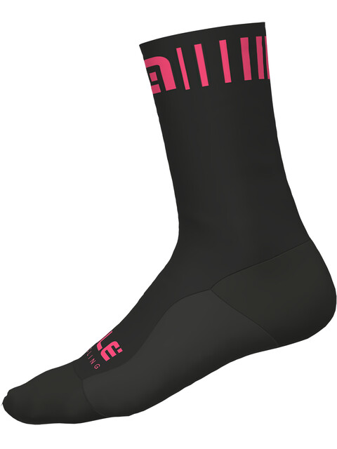 Alé Cycling Strada Socks black-fluo pink